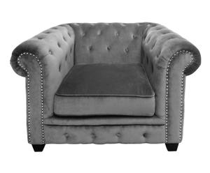"Fotel ""Chesterfield Grey"", 90 x 110 x 73 cm"