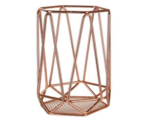 """Stojan na kuchyňské náčiní """"Vertex Copper"""", Ø 12, výš. 16 cm"""