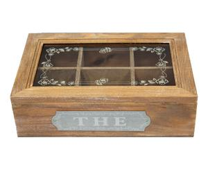 "Krabička na čaj ""Jardin"", 16 x 24 x 7 cm"