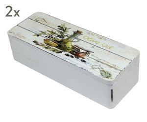 "Sada 2 krabiček na čaj ""Kaspar"", 9 x 24 x 6,5 cm"