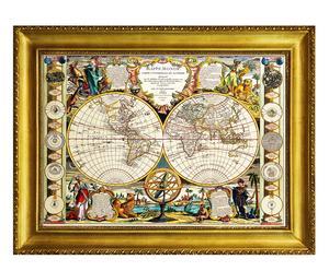 """Nástěnná dekorace """"Mappe Monde"""", 84 x 5 x 64 cm"""