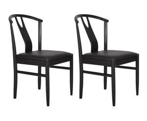 "Sada 2 židlí ""Hugo"", 55 x 48 x 80 cm"
