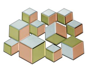 """Dekorace """"3D Copper"""", 58 x 1,5 x 51 cm"""