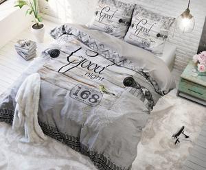 """Povlečení """"Goodnight 2 Grey"""", 140 x 220 cm"""