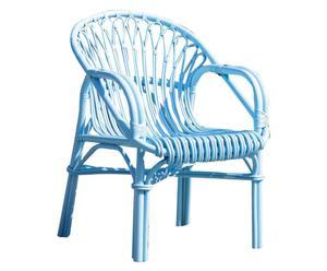 """Křeslo """"Wicker Blue"""", 74 x 57 x 85 cm"""