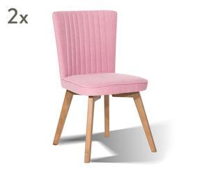 "Sada 2 židlí ""Jayden Pink"", 61 x 45 x 93,5 cm"
