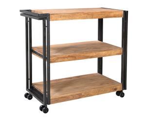 """Pojízdný barový stolek """"Panama"""", 35 x 80 x 80 cm"""