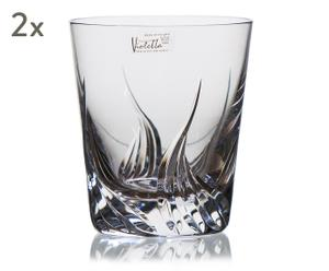 "Sada 2 sklenic na whisky ""Salamanca II"", Ø 9, výš. 10,7 cm"