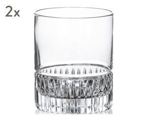 """Sada 2 sklenic na whisky """"Porto V"""", obj. 300 ml"""