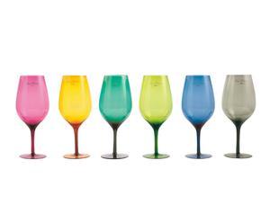 """Sada 6 sklenic na víno """"Etnochic"""", Ø 7,5, výš. 24,5 cm"""