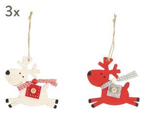"""Sada 6 vánočních ozdob """"Renna"""", 0,5 x 9 x 9 cm"""