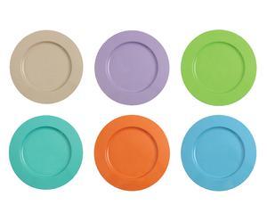 """Sada 6 kovových talířů """"Margarita"""", Ø 34,5 cm"""