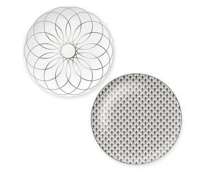 """Sada 2 dezertních talířů """"Platinium II"""", Ø 21 cm"""