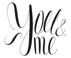 """Nástěnná samolepka """"You&Me"""""""