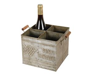"Skříňka na 4 lahve vína ""Vin De Pays"""