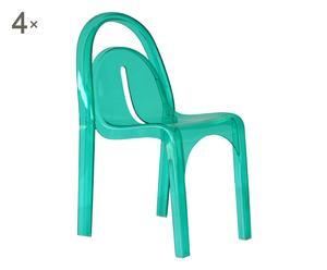 """Sada 4 židlí """"Ginger Green"""""""