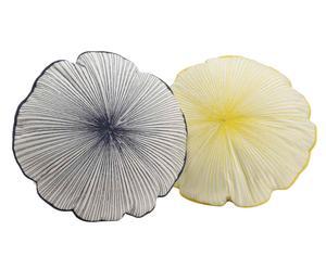 """Sada 2 polštářů """"Shell"""", Ø 40, tl. 8 cm"""