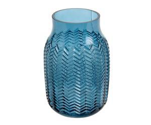 "Váza ""Chevrons Blue"", Ø 11, výš. 17 cm"