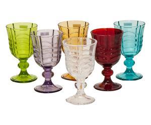 """Sada 6 skleniček """"Luxor Multicolor"""", obj. 280 ml"""