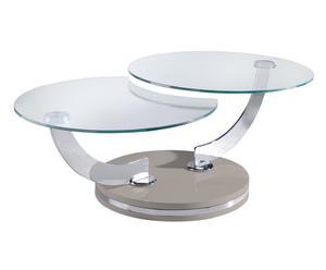 """Rozkládací konferenční stolek """"Chivasso"""", Ø 70, výš. 40 cm"""