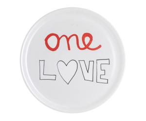 "Talíř na pizzu ""One love"", Ø 31 cm"