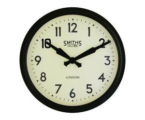 """Hodiny """"Smiths Retro Black"""", Ø 38 x 9,5 cm"""