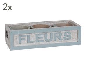 """Sada 6 květináčů v truhlíkách """"Frances"""""""