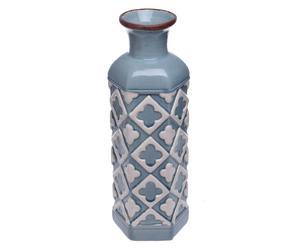 """Váza """"Geometric Blue"""", Ø 10, výš. 32 cm"""