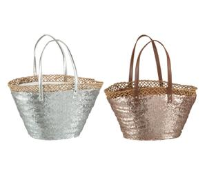 "Sada 2 tašek ""Silver Brown"", 16 x 50 x 30 cm"