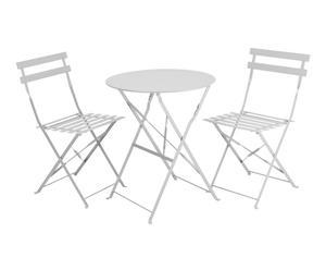 """Stolik ogrodowy z kompletem 2 krzeseł """"Eunika White"""""""