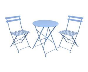 """Stolik ogrodowy z kompletem 2 krzeseł """"Eunika Blue"""""""
