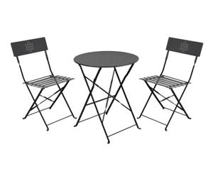 """Stolik ogrodowy z kompletem 2 krzeseł """"Armilla Black"""""""