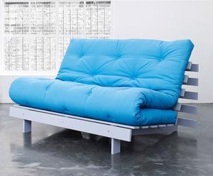 """Rozkládací pohovka """"Roots 140 Horizon Blue II"""", 140 x 90 x 84 cm"""