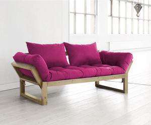 "Futon ""Edge Honey Pink"", 180 x 80 x 75 cm"