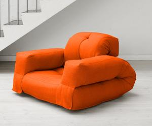 "Futon ""Hippo Orange"", 90 x 100 x 75 cm"