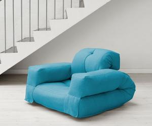 "Futon ""Hippo Blue"", 90 x 100 x 75 cm"