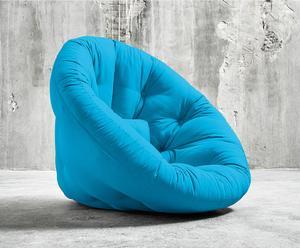 """Futon """"Nido Horizon Blue"""", 95 x 90 x 75 cm"""