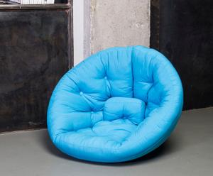 "Futon ""Nest Horizon Blue"", 95 x 90 x 75 cm"