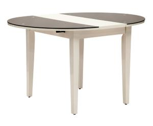 "Rozkládací stůl ""Vetro Black"", Ø 100, výš. 75 cm"
