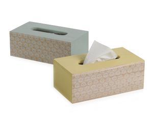 """Sada 2 dóz na papírové kapesníky """"Nathan"""", 13 x 24 x 9 cm"""