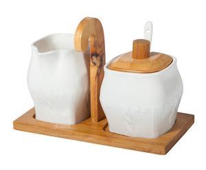 """Cukřenka a mléčenka """"Pergola"""", 10 x 18 x 13 cm"""