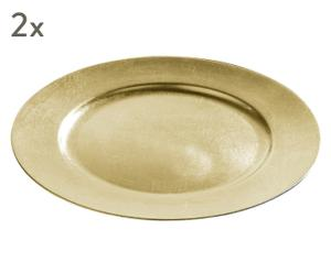 "Sada 2 dekorativních talířů ""Radiens"", Ø 33 cm"