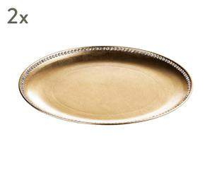 "Sada 2 dekorativních talířů ""Diamente"", Ø 33 cm"