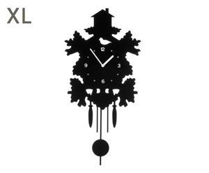 """Nástěnné hodiny """"Pendulum Black"""", 30 x 60 cm"""