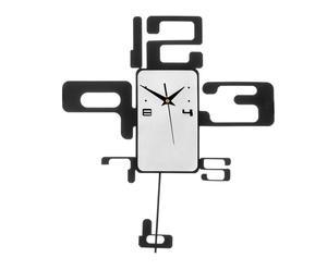 """Nástěnné hodiny """"Number Black"""", 40 x 4 x 44 cm"""