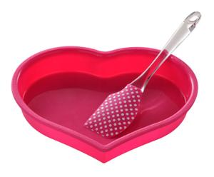 """Pečicí forma se stěrkou """"Heart"""""""