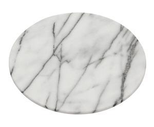"""Servírovací prkénko """"Marble White"""", Ø 31, výš. 3 cm"""