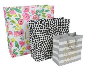 """Sada 3 dárkových tašek """"Lovely Blooms"""""""