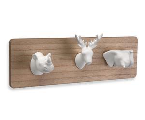 """Nástěnný věšák """"Animals II"""", 5 x 32 x 10 cm"""