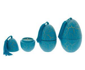 """Sada 3 svíček """"Craguele Turquoise Amber"""", 25 hod"""